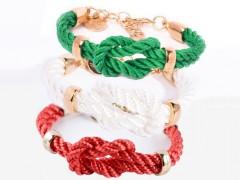 """Reef Knot / Kreuzknoten Armband """"Gold"""""""