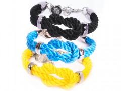 "Reef Knot / Kreuzknoten Armband ""Rhodium"""